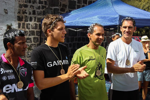 Henri Fayolle at the Mauritian Trail Running Championship