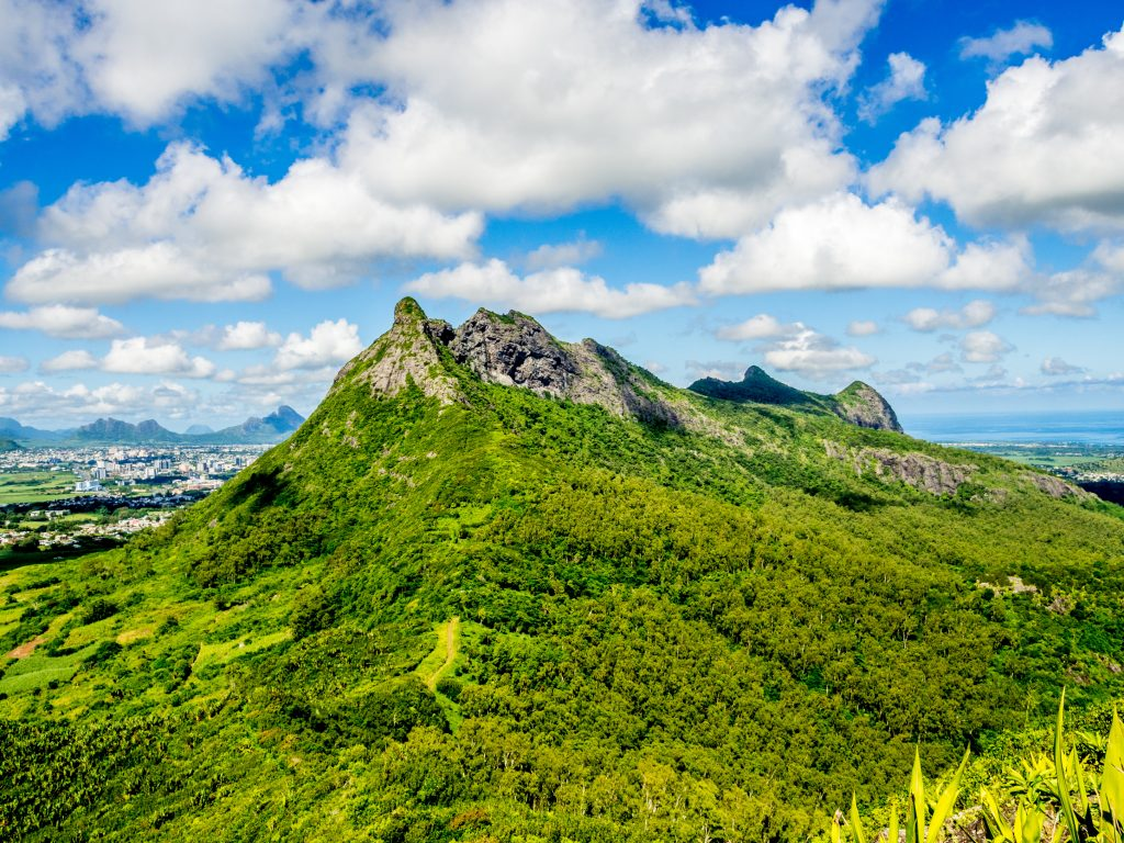 View From Le Pouce Mountain In Central Mauritius